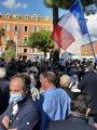المئات يحتشدون فى باريس للتنديد بالتطرف والإرهاب وللتضامن مع المدرس المذبوح