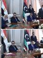 رئيس الوزراء المصري ورئيس حكومة الوحدة الوطنية الليبية يشهدان التوقيع