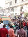 أول فيديو لآثار انفجار قنبلة دار القضاء العالى