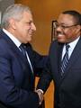 رئيس وزراء إثيوبيا لمحلب: نعمل على دفع العلاقات مع مصر إلى آفاق رحبة