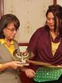 مركز القاهرة للتنمية يكرم هالة شكر الله بمناسبة اليوم العالمى للمرأة