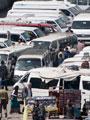 شرطة المرافق بالقاهرة تنقل موقف الإسعاف إلى الترجمان وتزاحم المواطنين