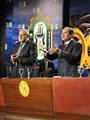 ننشر صور الرئيس السيسى أثناء تكريم القيادات العمالية خلال الاحتفال بعيدهم