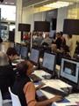 الإعلاميون فى  الـ presse room
