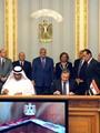 محلب وسلطان الجابر يشهدان توقيع عقود تسليم عدد من المشروعات التنموية بمصر
