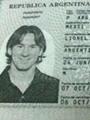 """جواز سفر اللاعب الأرجنتينى """"ليونيل ميسى"""""""
