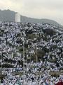 اندلاع حريق هائل بأحد مخيمات الحجاج بمشعر عرفات بالسعودية
